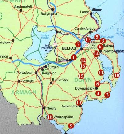 Golf Map Of Ireland.Golfing In Northern Ireland